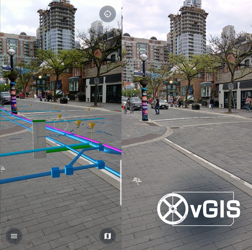Esri AR GIS Augmented Reality ArcGIS Bentley iModelHub Microstation MR Mixed Reality HoloLens HoloLens2