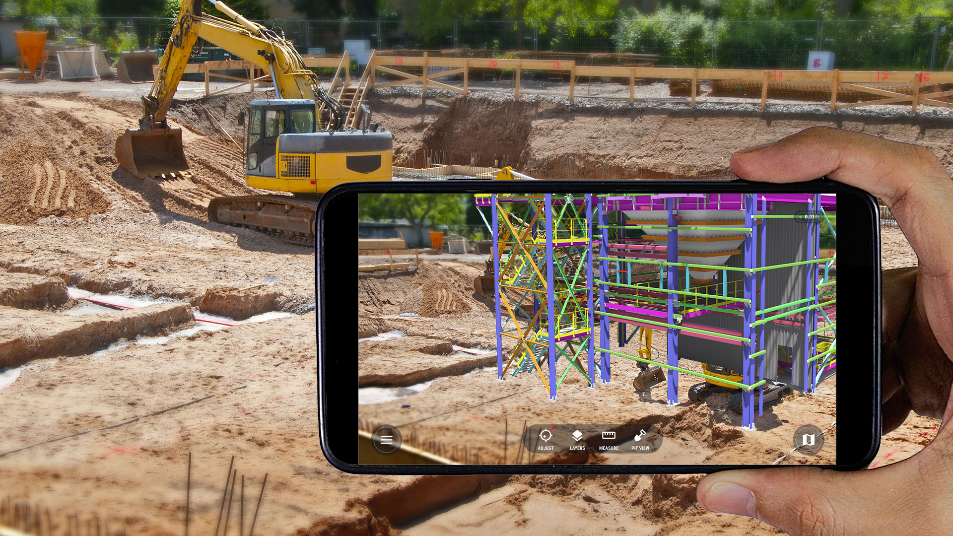 Leading GIS and CAD augmented reality AR system for construction sites