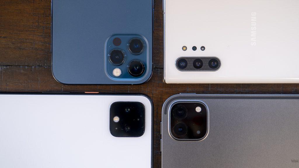 vGIS comparison test AR GIS BIM - iPhone 12 Pro 2020 iPad Pro Samsung Note10 Google Pixel Sensor LiDAR ToF